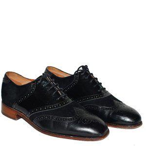 Duckie Brown Florsheim Black Patent Leather Suede